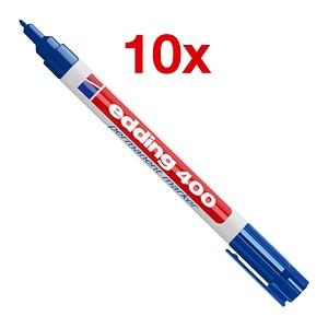 10 edding 400 Permanentmarker blau 1,0 mm