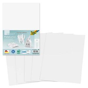 folia Fotokarton weiß 300 g/qm 50 Blatt