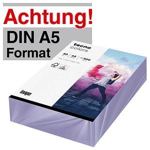 tecno Kopierpapier colors violett DIN A5 80 g/qm 500 Blatt