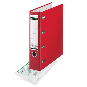 LEITZ Doppelordner rot Karton 7,5 cm