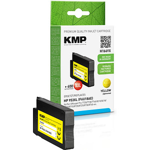KMP H166YX gelb Tintenpatrone ersetzt HP 953XL (F6U18AE)