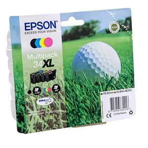 4 EPSON 34XL / T3476XL schwarz, cyan, magenta, gelb Tintenpatronen