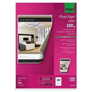 SIGEL Fotopapier LP344 DIN A4 glänzend 200 g/qm 200 Blatt