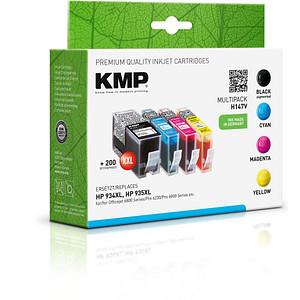 4 KMP H147V schwarz, cyan, magenta, gelb Tintenpatronen ersetzen HP 934XL/935XL (X4E14AE)