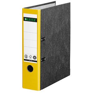 LEITZ 1080 Ordner gelb marmoriert Karton 8,0 cm DIN A4