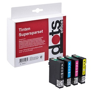4 dots   schwarz, cyan, magenta, gelb Tintenpatronen ersetzen EPSON T071540