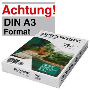 DISCOVERY Kopierpapier DISCOVERY DIN A3 75 g/qm 500 Blatt