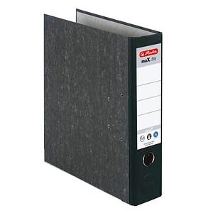herlitz maX.file nature Ordner schwarz marmoriert Karton 8,0 cm DIN A4