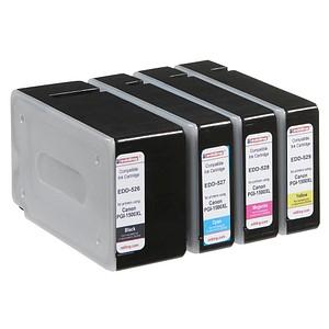 4 edding EDD-530 schwarz, cyan, magenta, gelb Tintenpatronen ersetzen Canon PGI-1500 XL BK/C/M/Y
