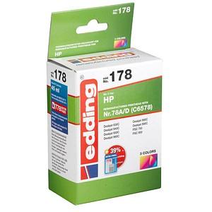 edding EDD-178 color Tintenpatrone ersetzt HP 78 (C6578A)