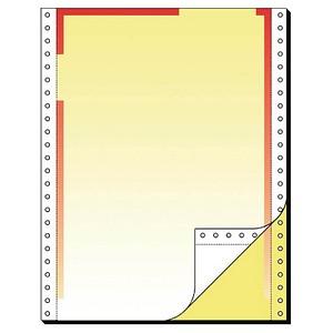 SIGEL Endlospapier A4 hoch 2-fach, 80 g/qm gelb 500 Blatt
