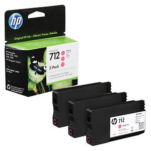 3 HP 712 (3ED78A) magenta Tintenpatronen