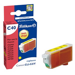 Pelikan C40 gelb Tintenpatrone ersetzt Canon CLI-521 Y
