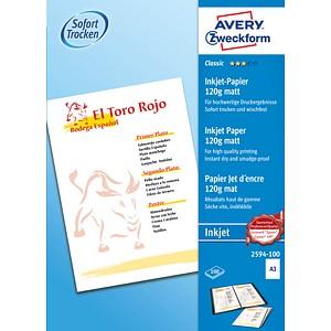 AVERY Zweckform Fotopapier 2594-100 DIN A3 matt 120 g/qm 100 Blatt