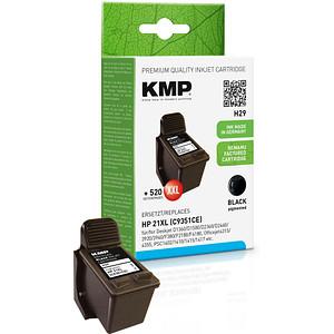 KMP H29 schwarz Tintenpatrone ersetzt HP 21XL (C9351AE)