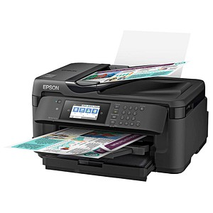 EPSON WorkForce WF-7715DWF 4 in 1 Tintenstrahl-Multifunktionsdrucker schwarz