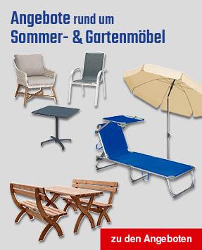 Angebote Sommer- und Gartenmöbel